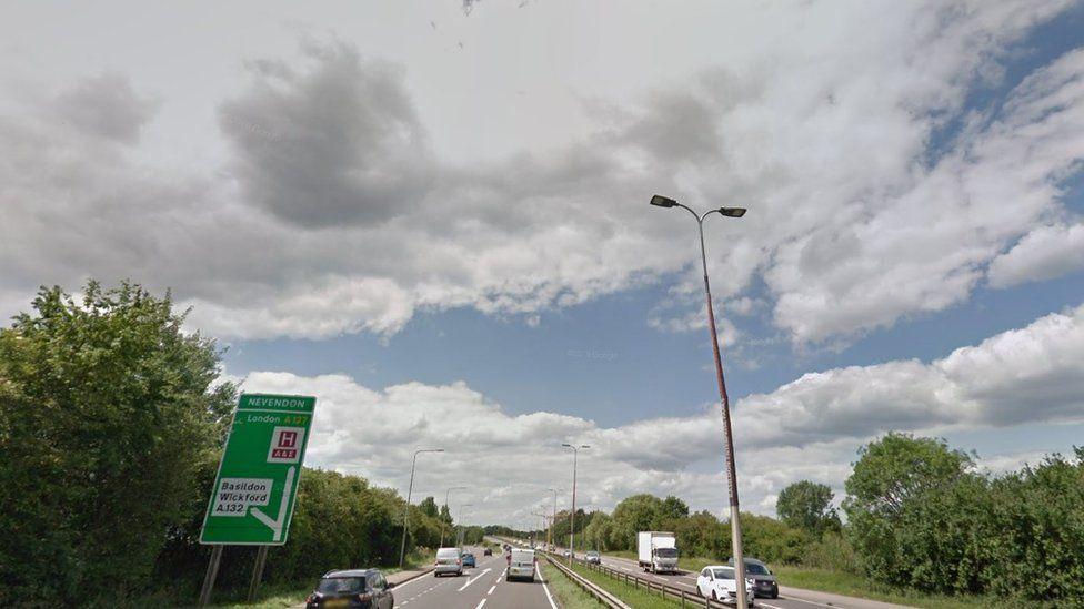 A127 near Wickford, Essex