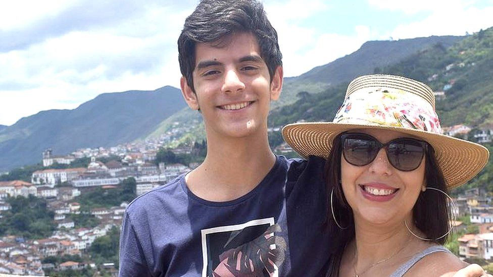 Carolina lives in Brazil with her son, Arthur