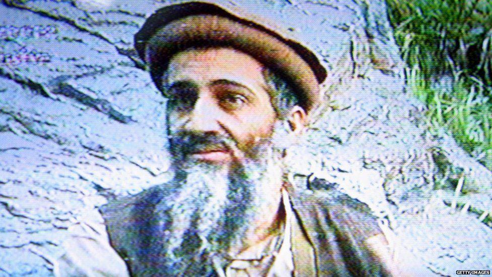 Bin Laden, shown in 2003