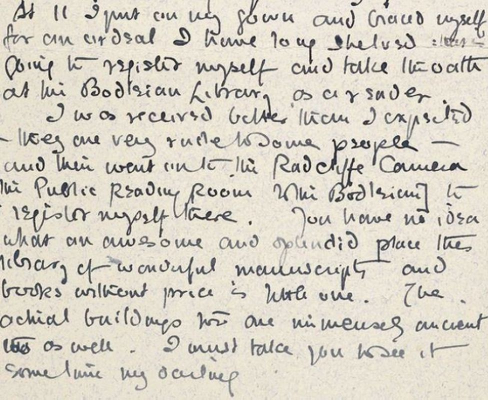 Tolkien's letter to his fiancée