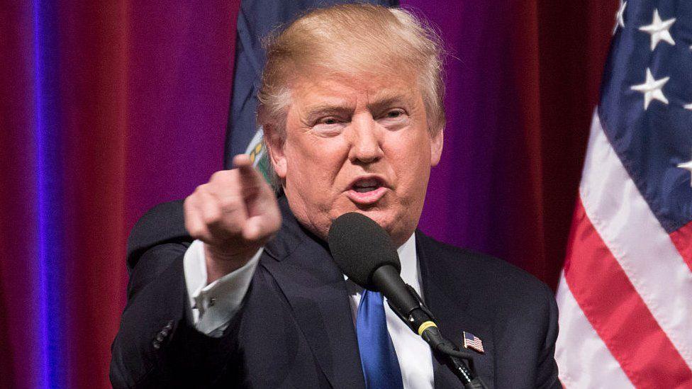 Trump campaigning in Kansas