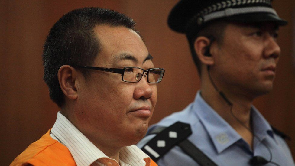 Chinese official in court