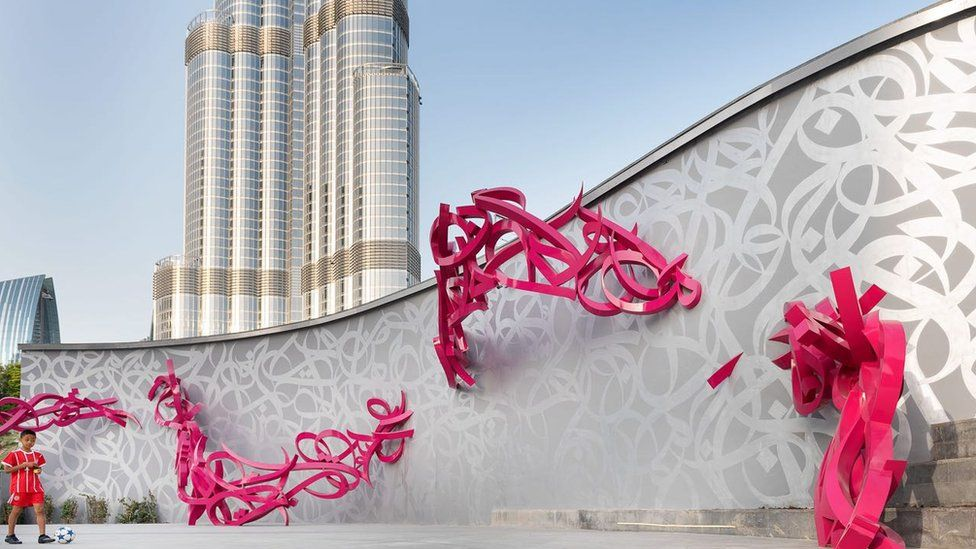 El Seed's sculpture for the Dubai Opera