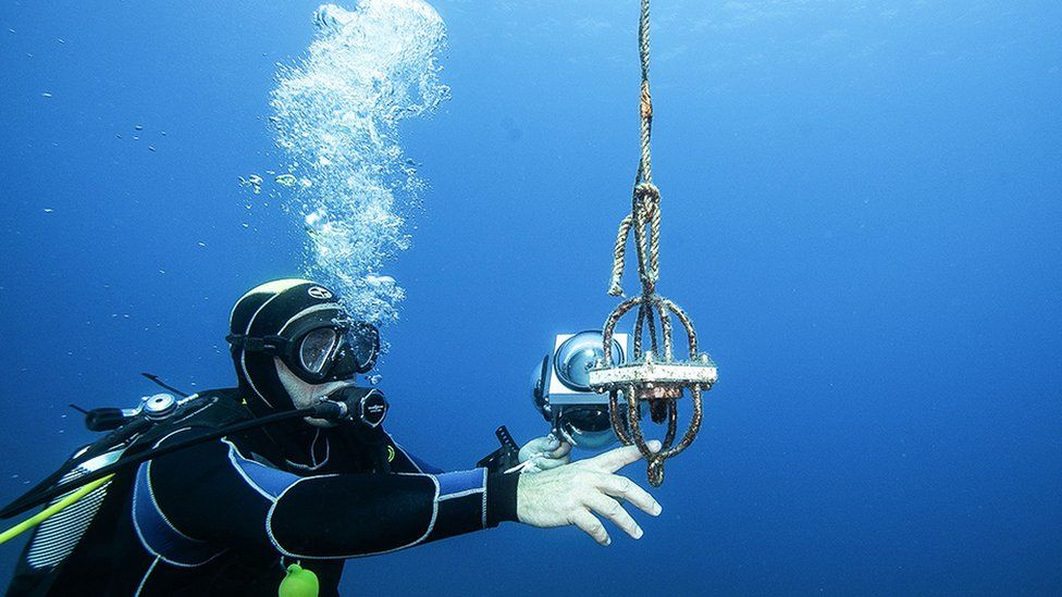 An underwater microphone