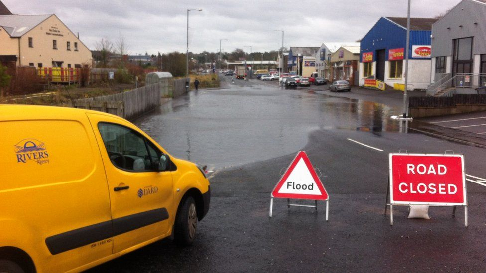 The Rivers Agency has been pumping water at Derrychara Link in Enniskillen