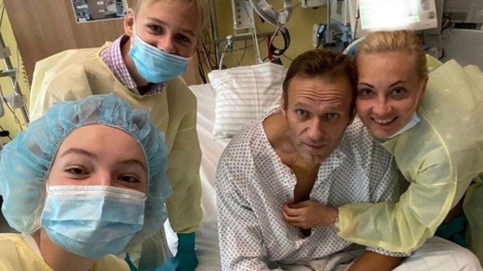 Navalny in hospital bed