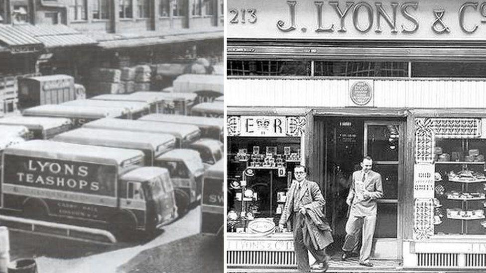 Lyons factory and a tea shop.