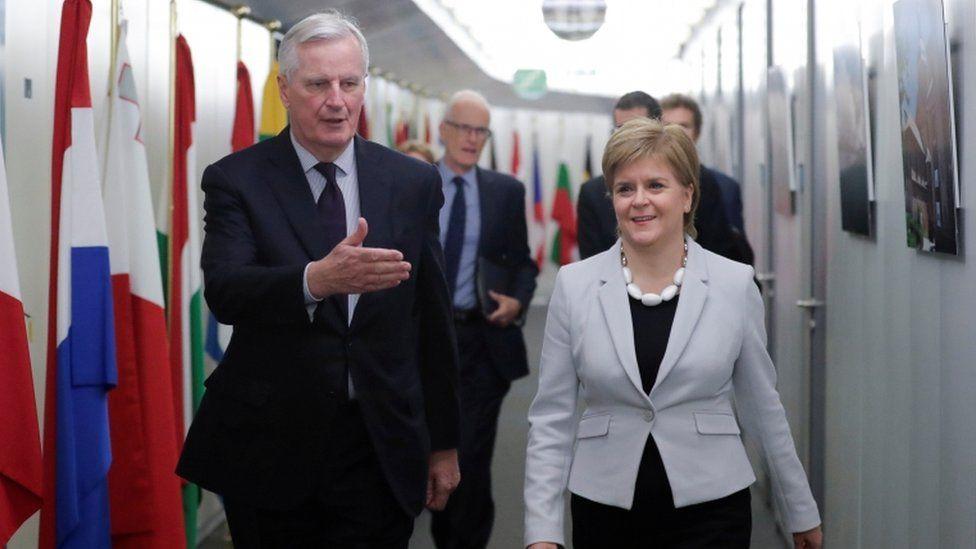 Nicola Sturgeon holds talks with European leaders