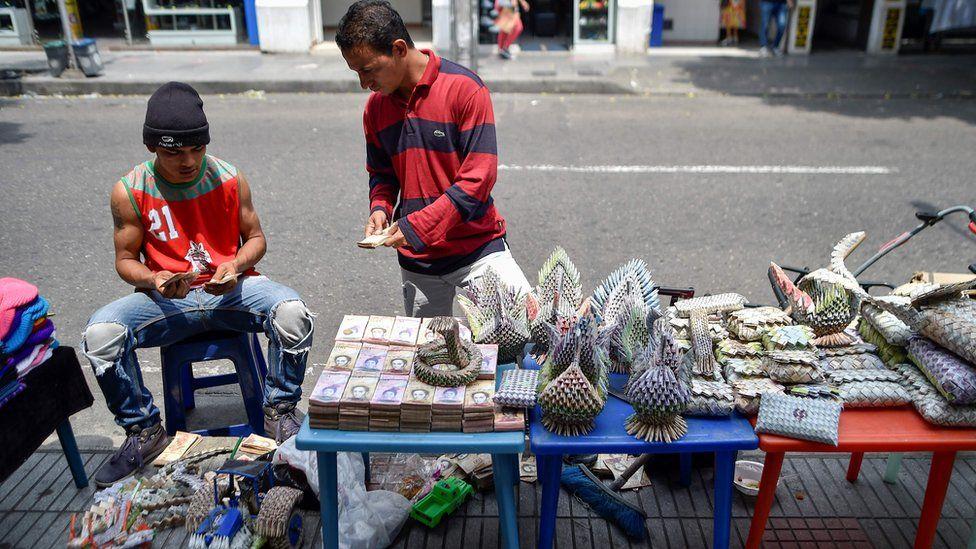 Men at handicraft store