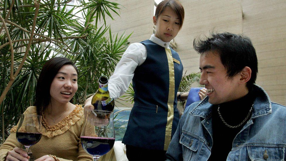 Chinese wine drinkers