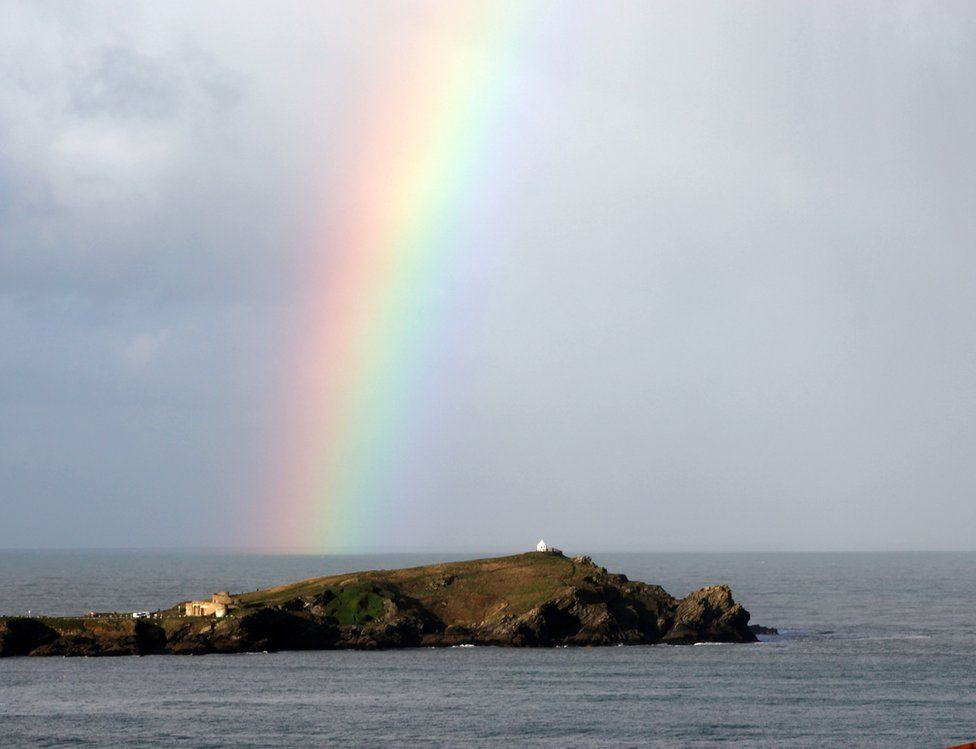 A rainbow over the sea