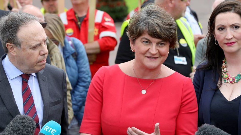 DUP leader Arlene Foster believes a solution based on technology could replace the Irish backstop