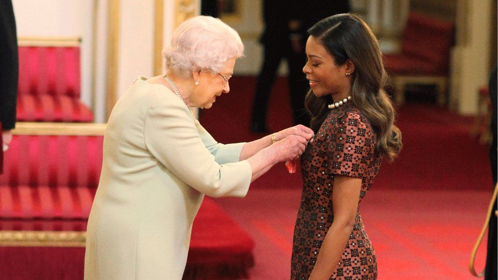 The Queen and Naomie Harris