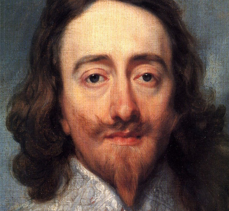 Detail of the portrait 'Charles I, King of England, from Three Angles', 1636 by van Dyck