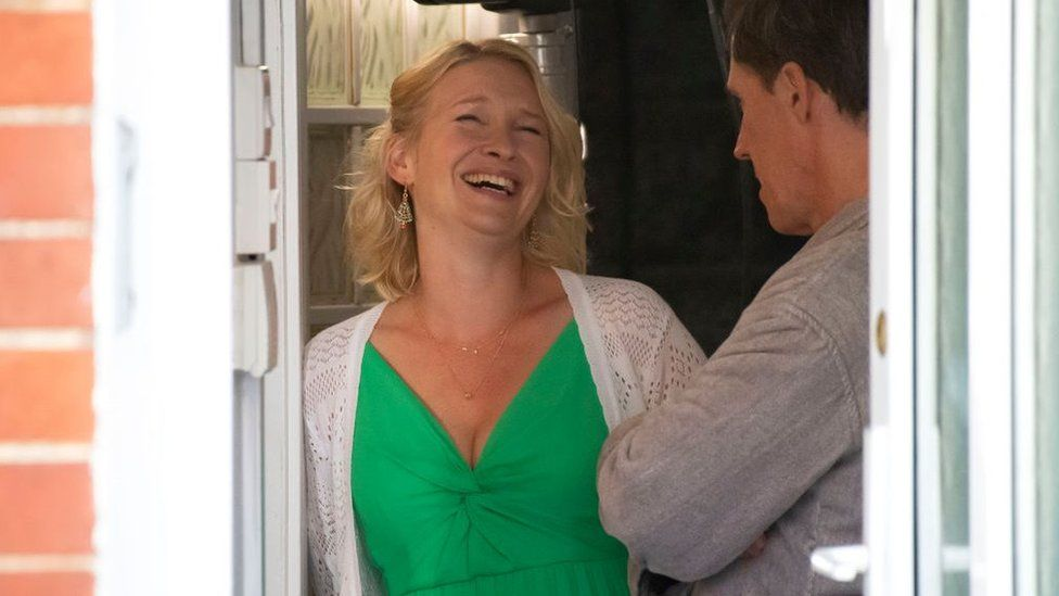 JOANNA PAGE (Stacey): Nobody was interested in watching us filming in Barry the first time - now it's different.