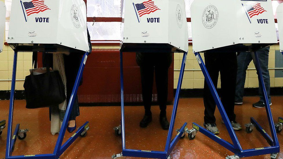 US voters cast their ballots in the November election.