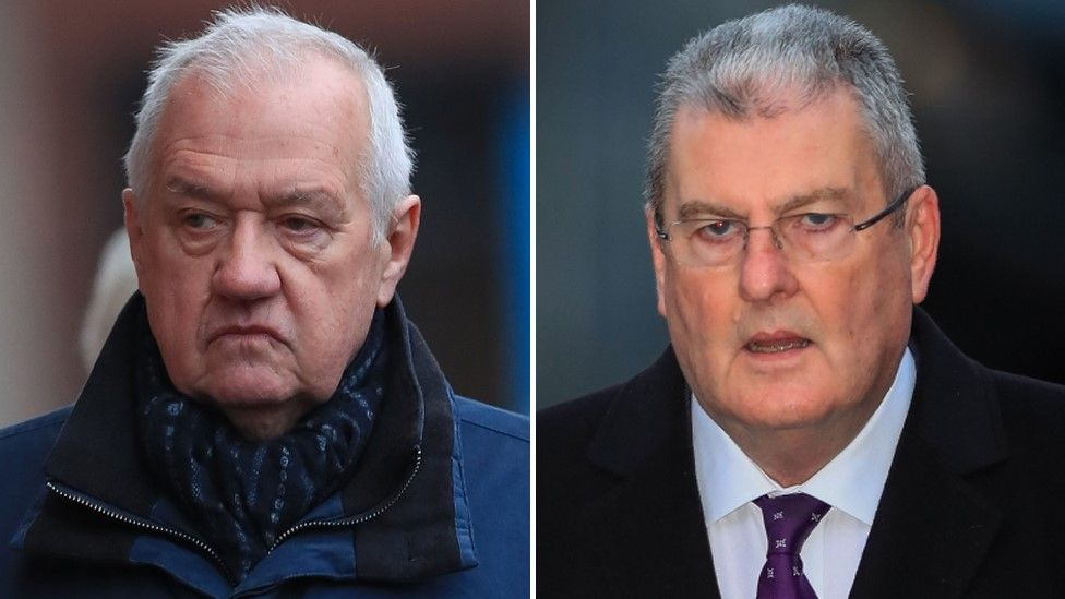 David Duckenfield (left) and Graham Mackrell arrive at Preston Crown Court