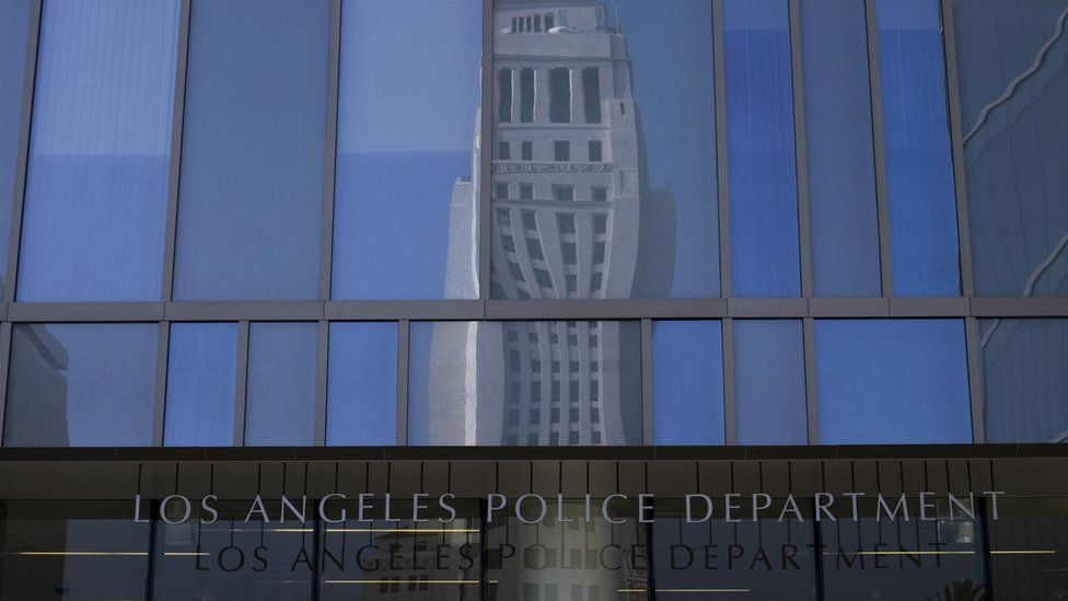 Los Angeles Police Department building sign