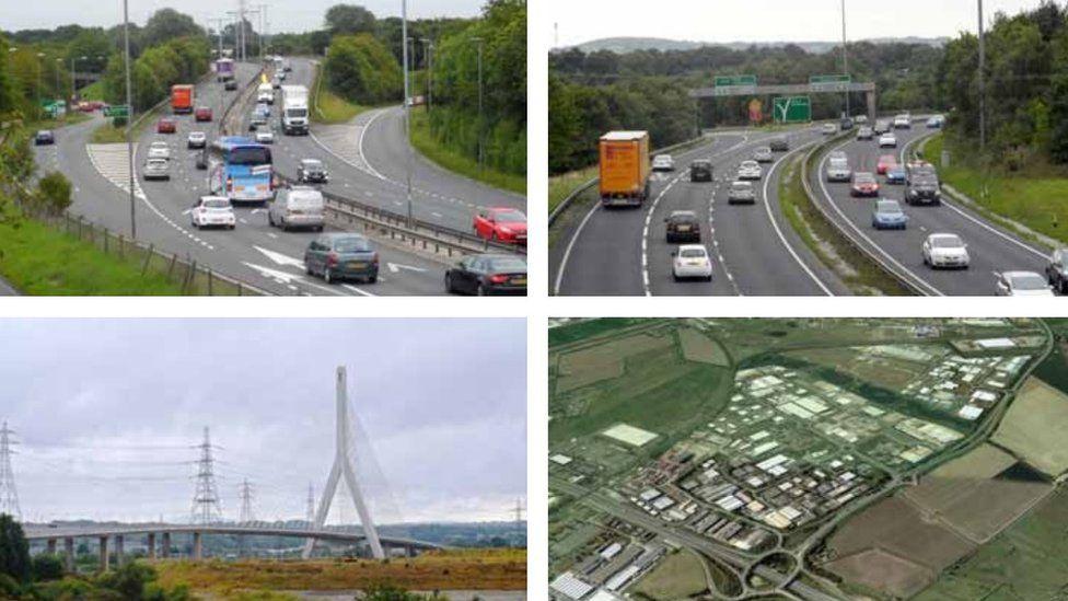 Views of Aston Hill, Flintshire Bridge and Deeside Industrial Estate