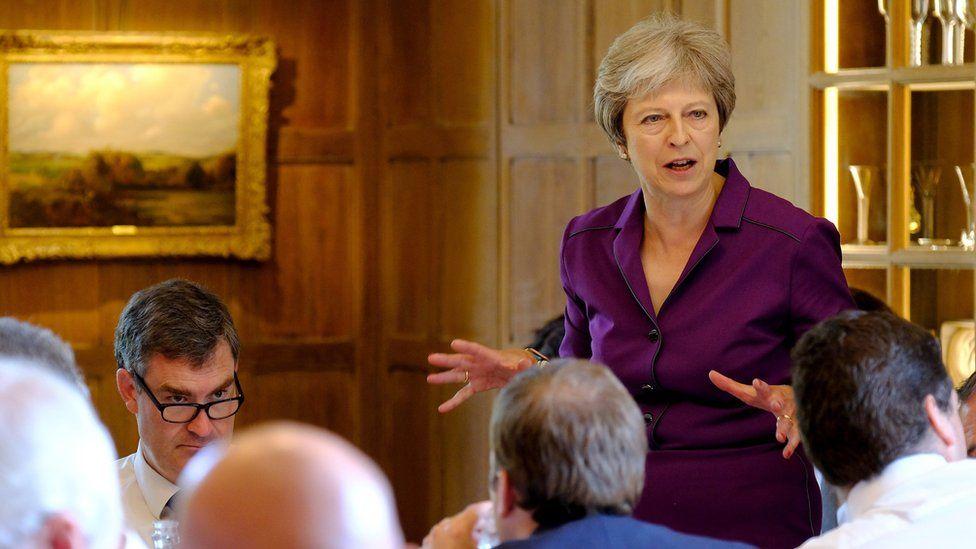 Theresa May at Chequers
