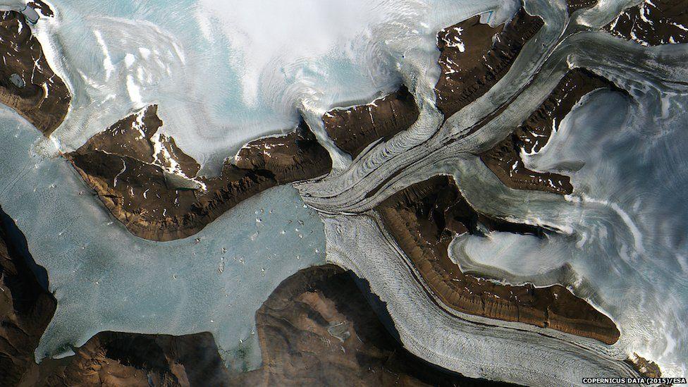 Glaciers in western Greenland