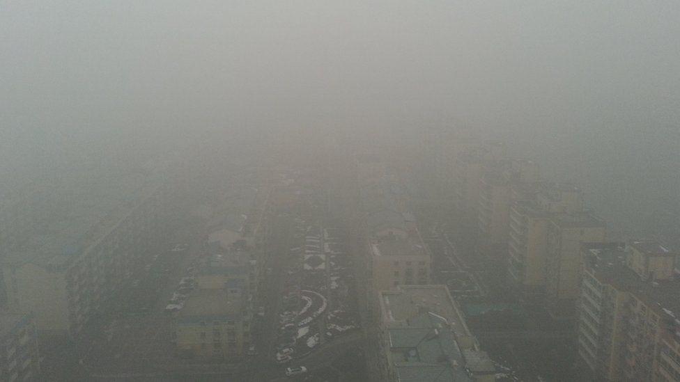 Near East 4th Ring Road, facing west towards Beijing, 2 Dec