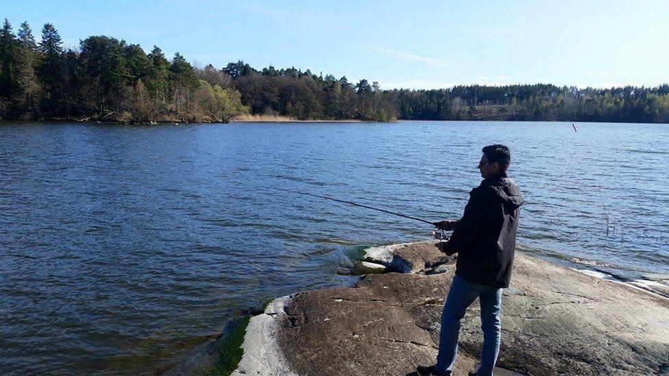 Ameek Grewal fishing
