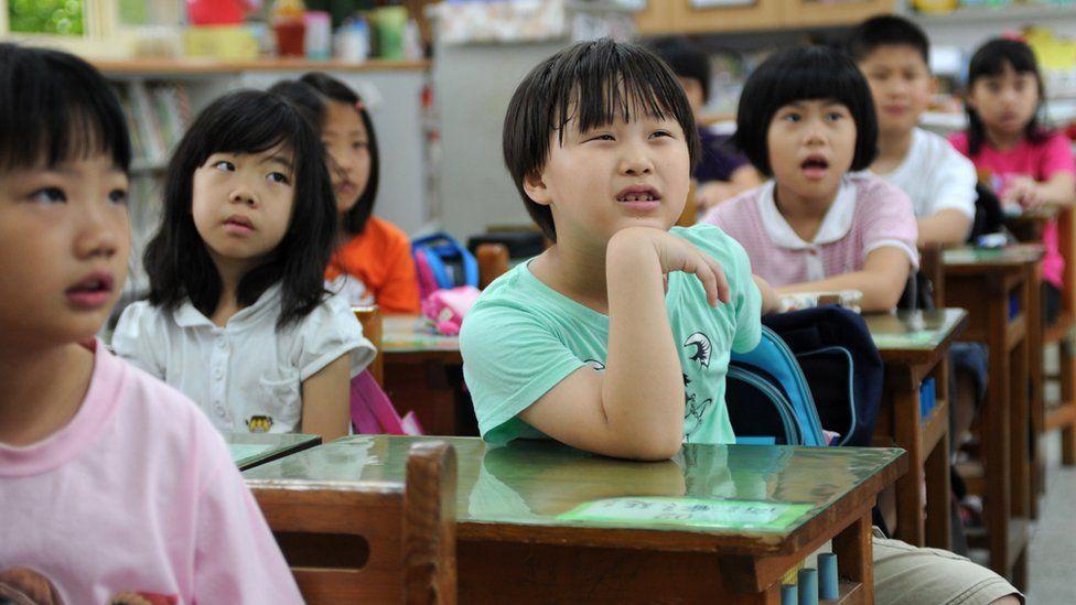 Children in a classroom in Taipei
