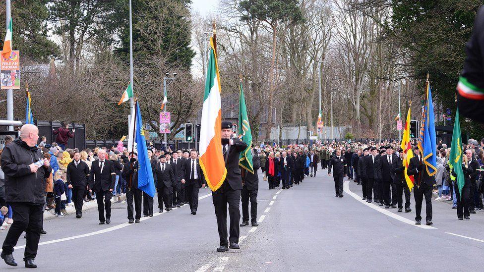 parade in west belfast