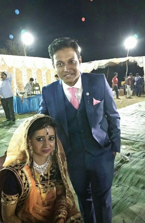 Soumya Sekhar Sahu and leaving his bride Reema Sahu