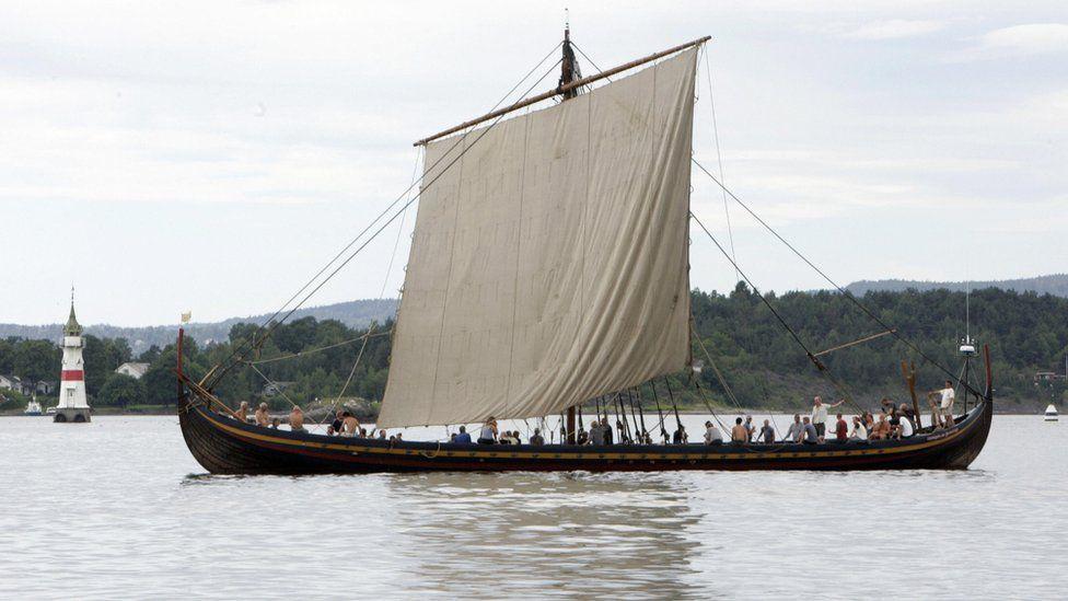 Replica of a Viking boat