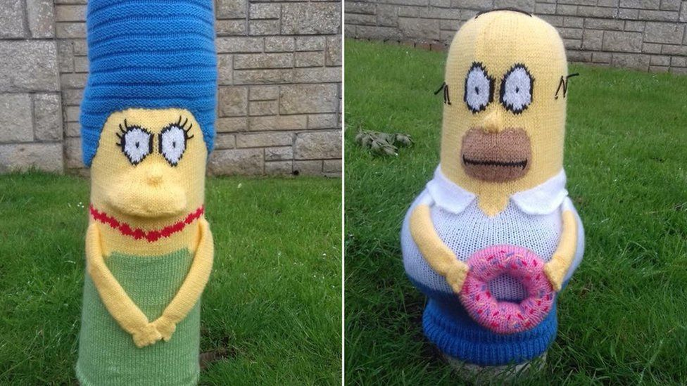Marge and Homer Simpson