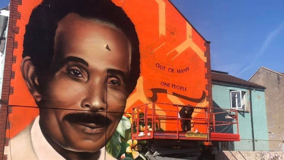 Mural of Audley Curtis