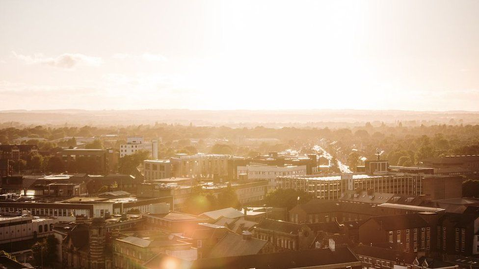 Sunset over Hull