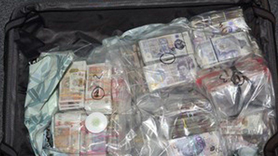Cash in suitcase