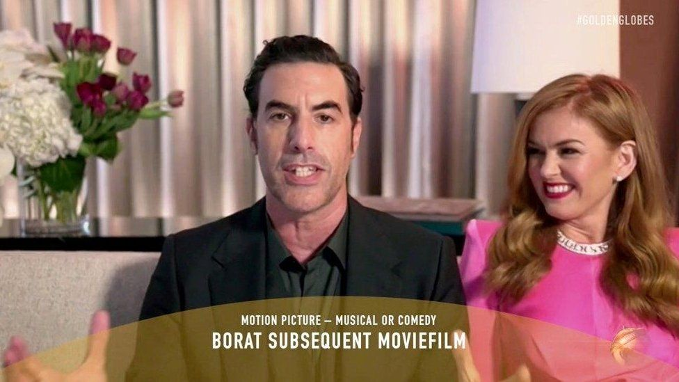 Sacha Baron Cohen with wife Isla Fisher