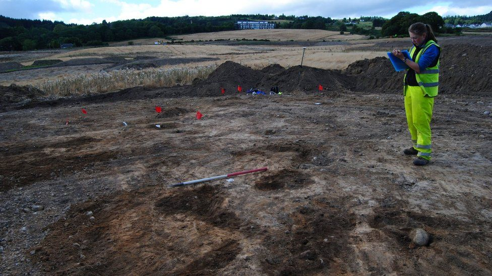 Archaeologist at artefacts find spot on route of new West Link Road