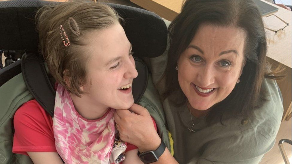 Marian Bradley (with her daughter, Meabh) says families in her situation can feel very isolated