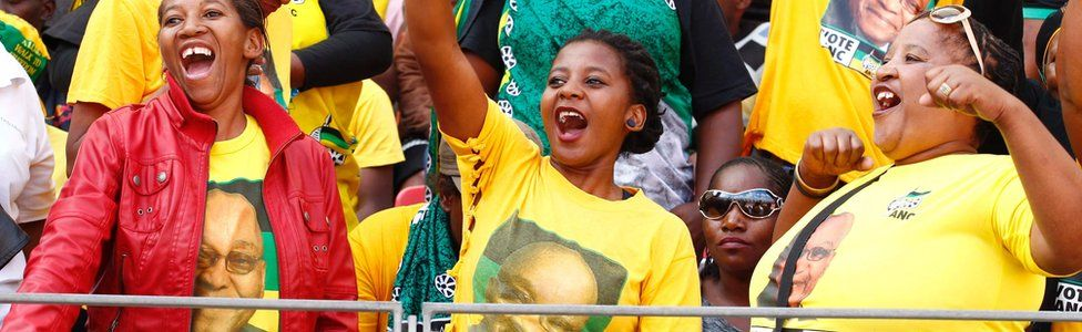 ANC supporters in Port Elizabeth, South Africa - 16 April 2016