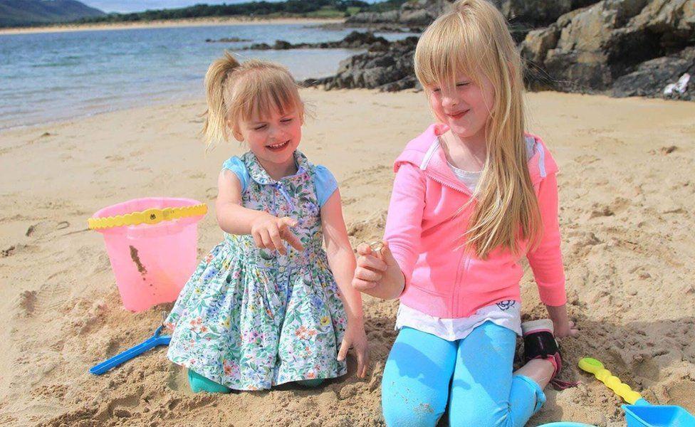 Lisburn sisters Maisie and Lola discovered buried treasure on Portsalon beach