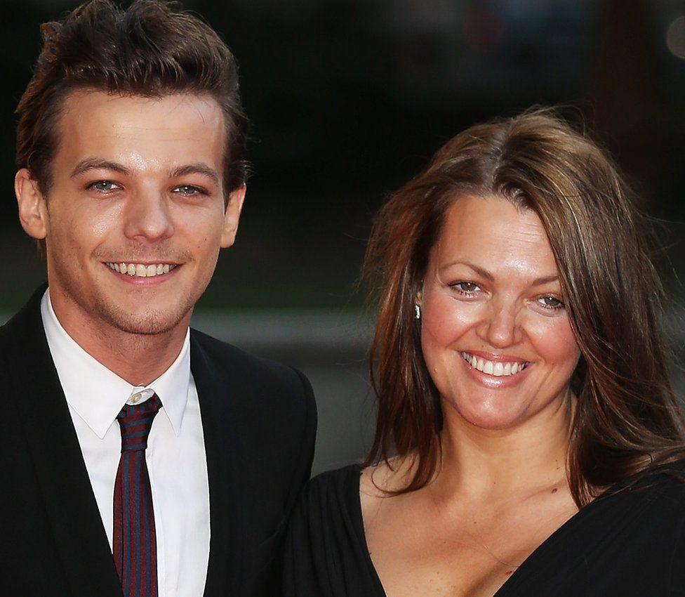 Louis Tomlinson and his mum Johannah