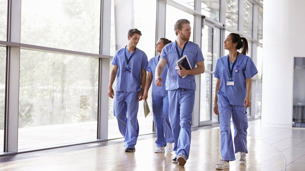 Doctors in scrubs