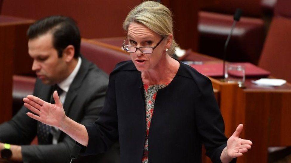 Fiona Nash speaks in Australia's Senate