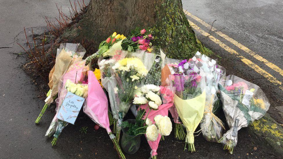 flowers near crime scene