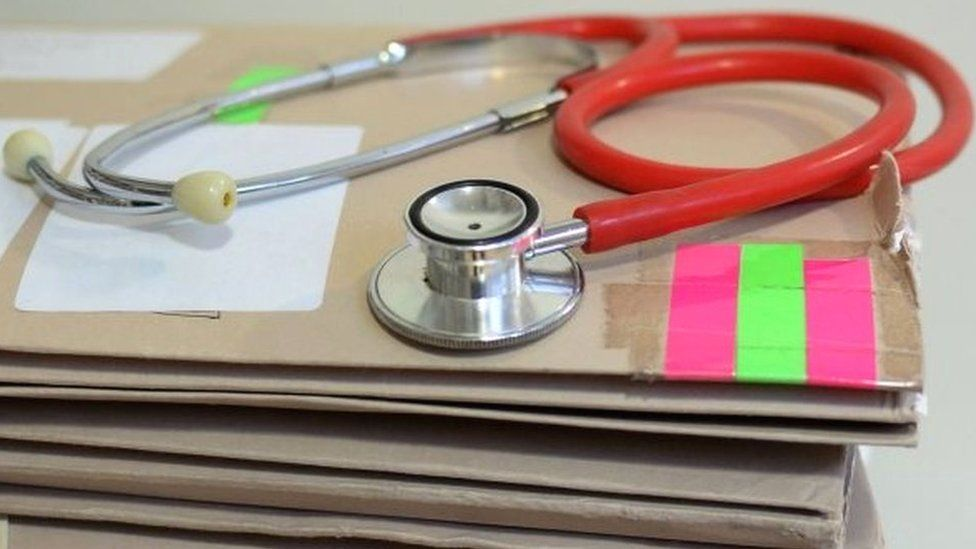stethoscope on files