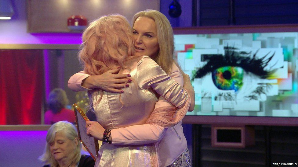 Courtney hugs fellow contestant India Willoughby