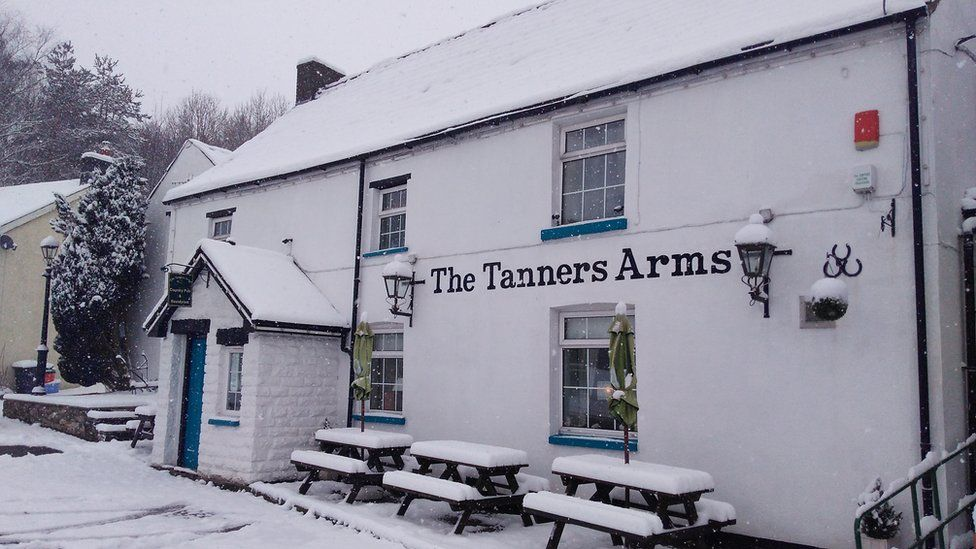 The Tanners Arms Inn in Defynnog in the Brecon Beacons