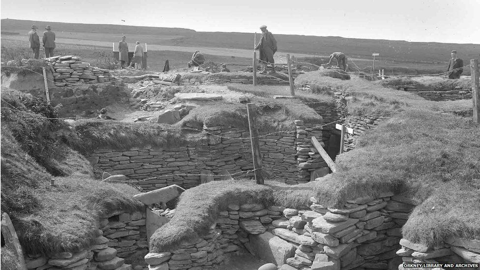 Skara Brae in 1929