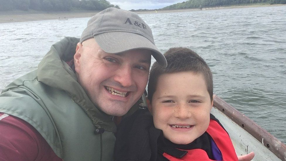 Rich Cook with his son Harry