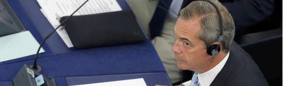 Nigel Farage in European Parliament (14 Sept)